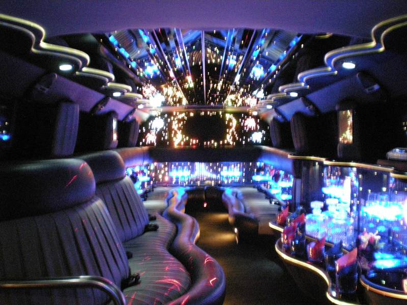 Black Hummer Limo Inside. Picture hummer black interior